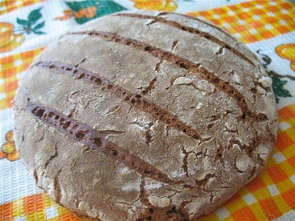 Хлеб чёрный в домашних условиях в духовке